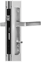 Aluminum-Swinging Door-NS212T_MS362T Entrance Door-10000 Multi-Fold Door-Vogue I Multipoint Handle Brushed Nickel Finish