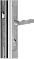 Aluminum-Swinging Door-TD400 Terrace Door-Vohue H Multipoint Handle-Satin Nickel Finish
