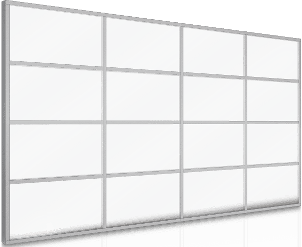 Aluminum Window walls Curtain Wall T500