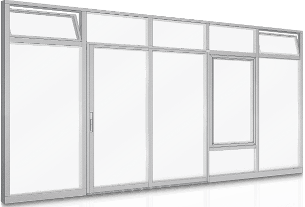 Aluminum Window walls Window Wall TC255_TC470