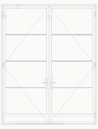 T225 4 Lite SDL Double Door with Kick plate