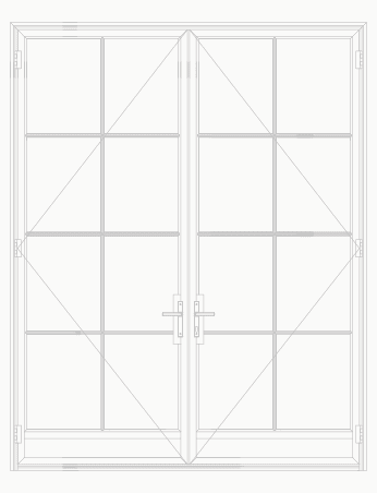 T225 8 Lite SDL Double Door with Kick plate