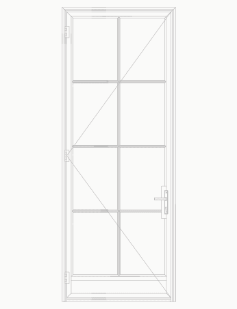 T225 8 Lite SDL Single Door with Kick plate