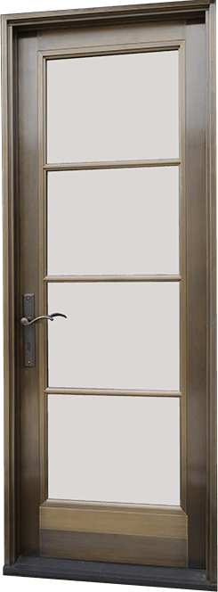 Wood-Door-Swing-Exterior Door Bronze Clad