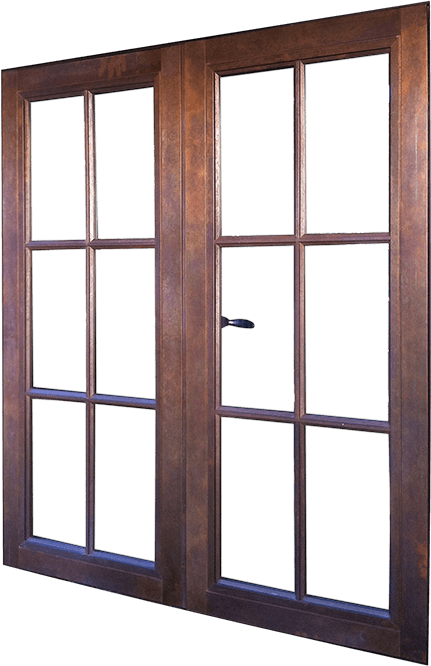 Wood – Window – Casement – French Casement Push Out (Outswing) Bronze Clad