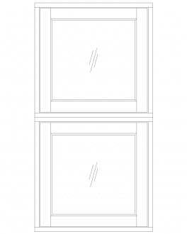 MULLED VERTICAL FIXED WINDOWS